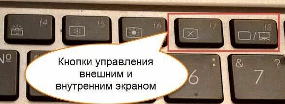 кнопки управления внешним и внутренним экраном